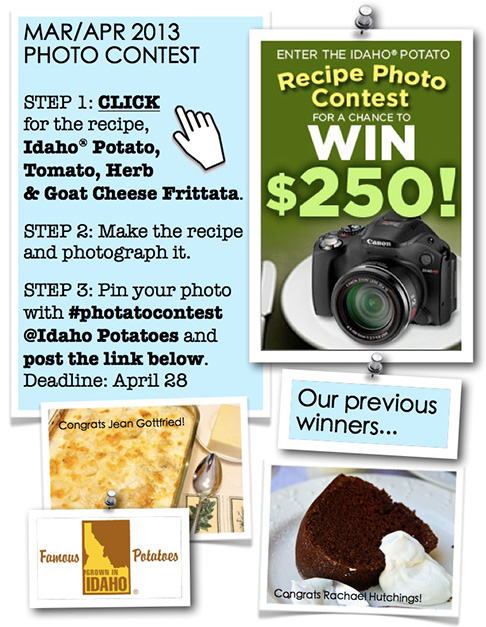 Idaho Potato Pinterest Contest