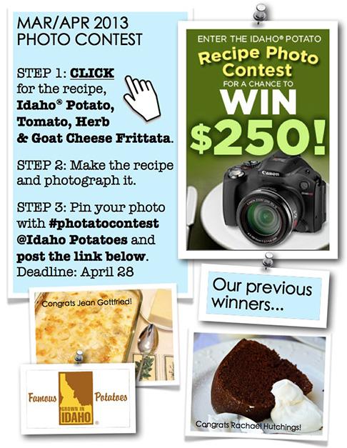 Idaho Potato Pinterest Contest