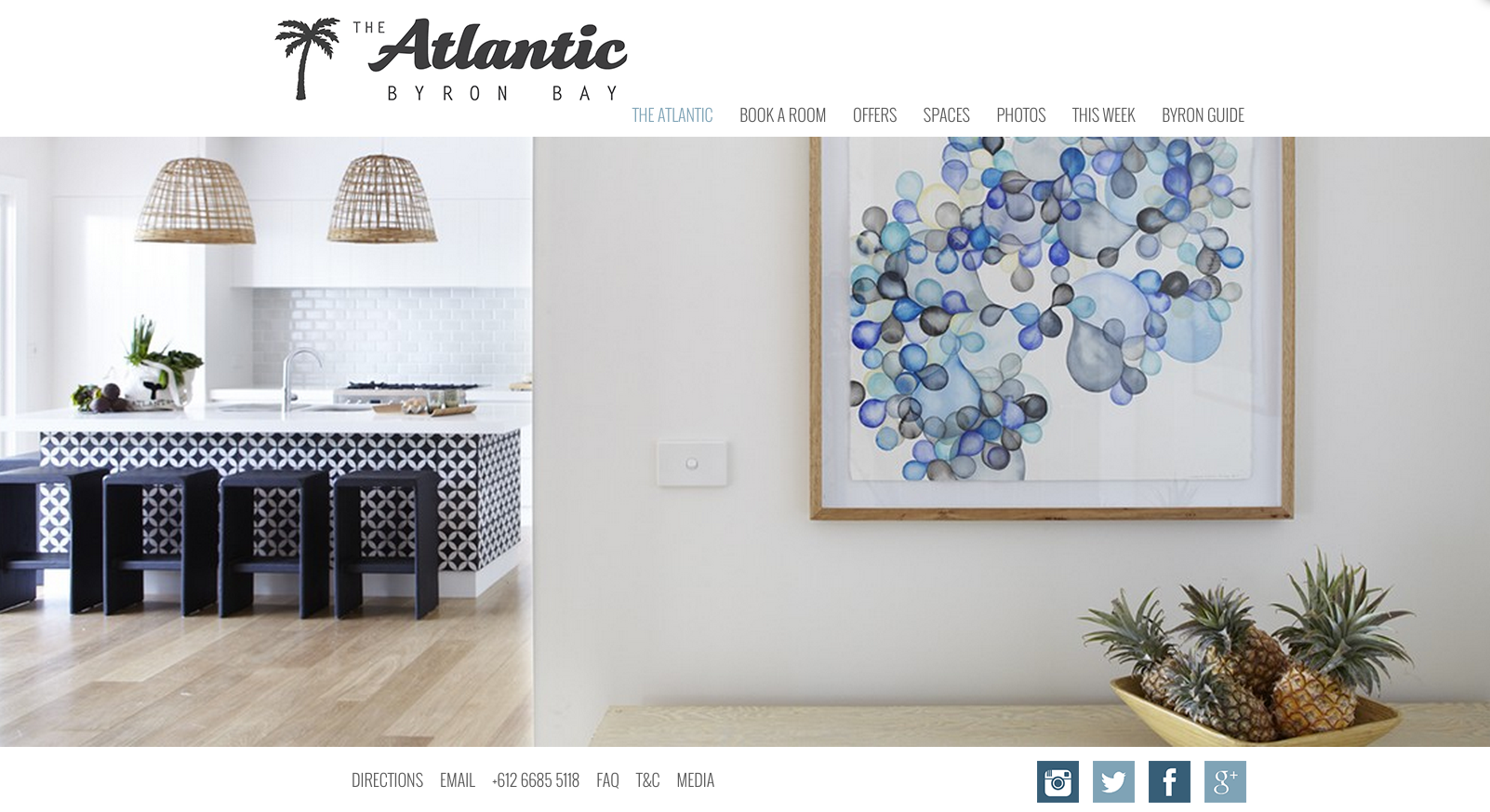 The Atlantic Byron Bay Website Design