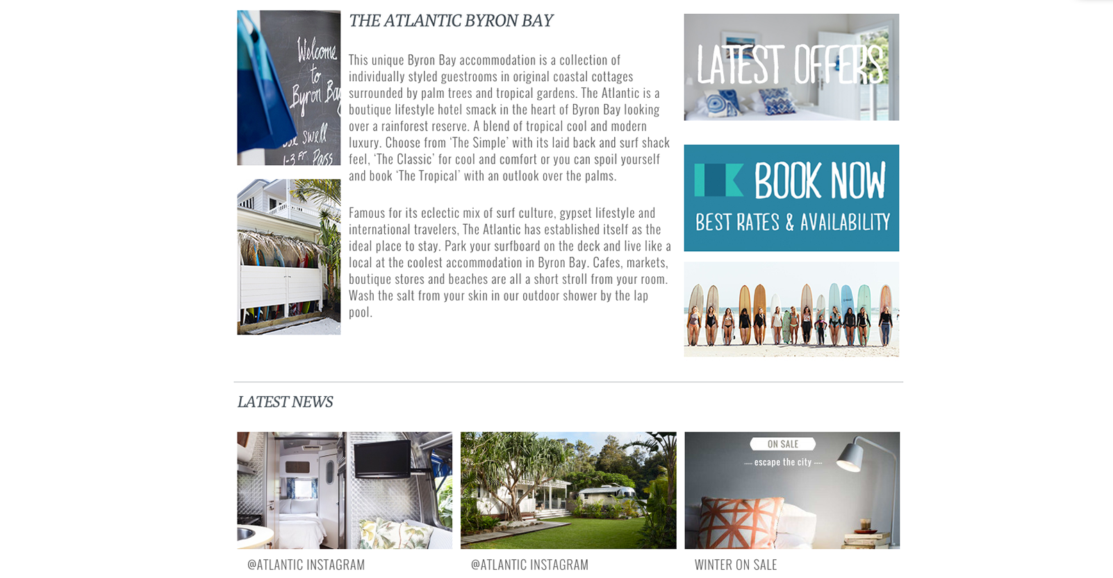 The Atlantic Byron Bay Home Page