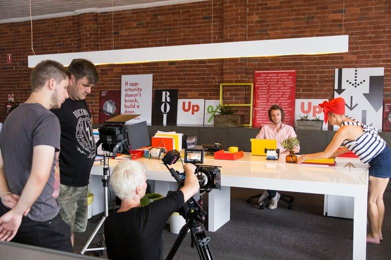 Behind The Scenes Upside Film Shoot Melbourne Office