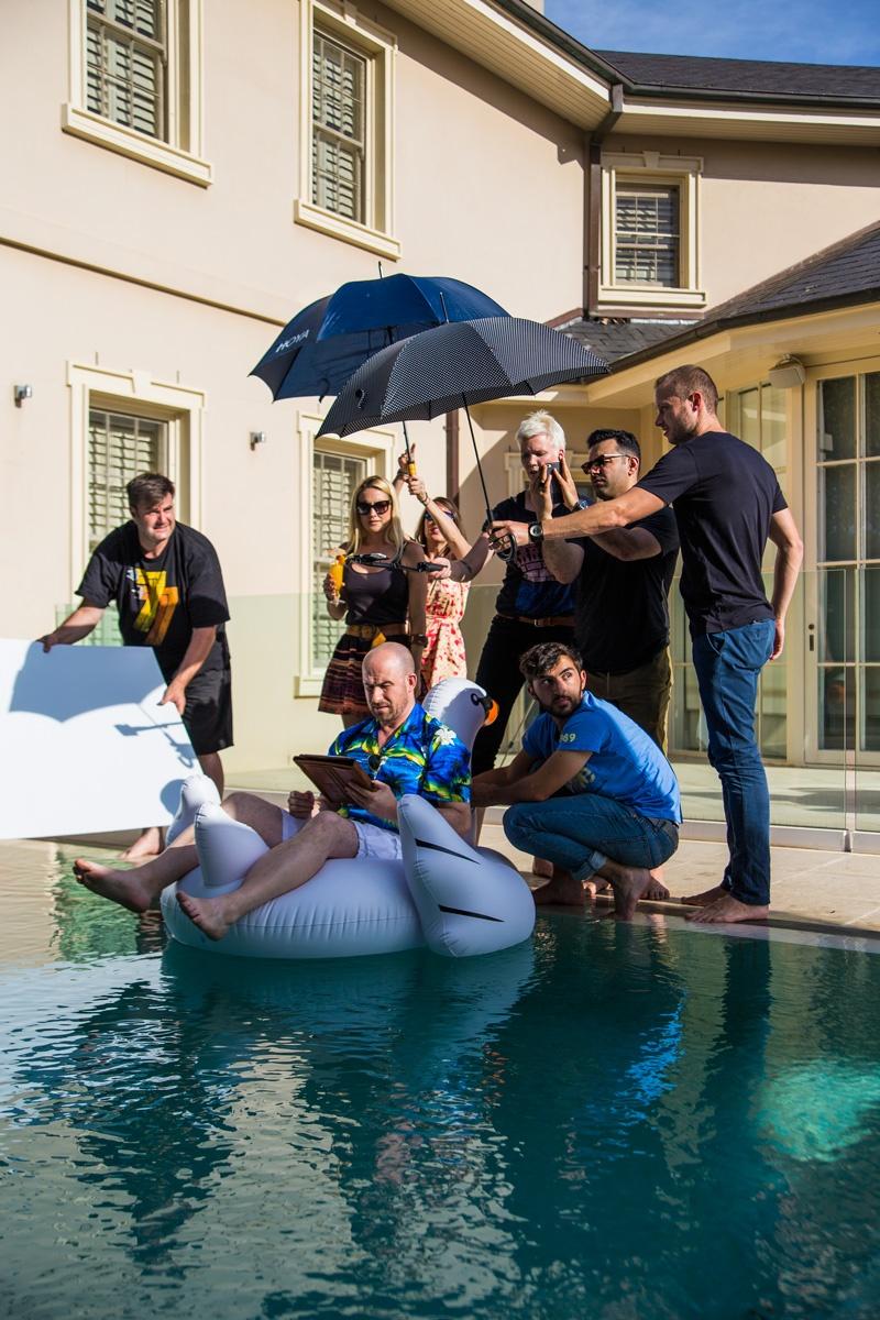 Behind The Scenes Upside Film Shoot Melbourne Pool Scene
