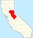 Sierra Foothills California Map.png
