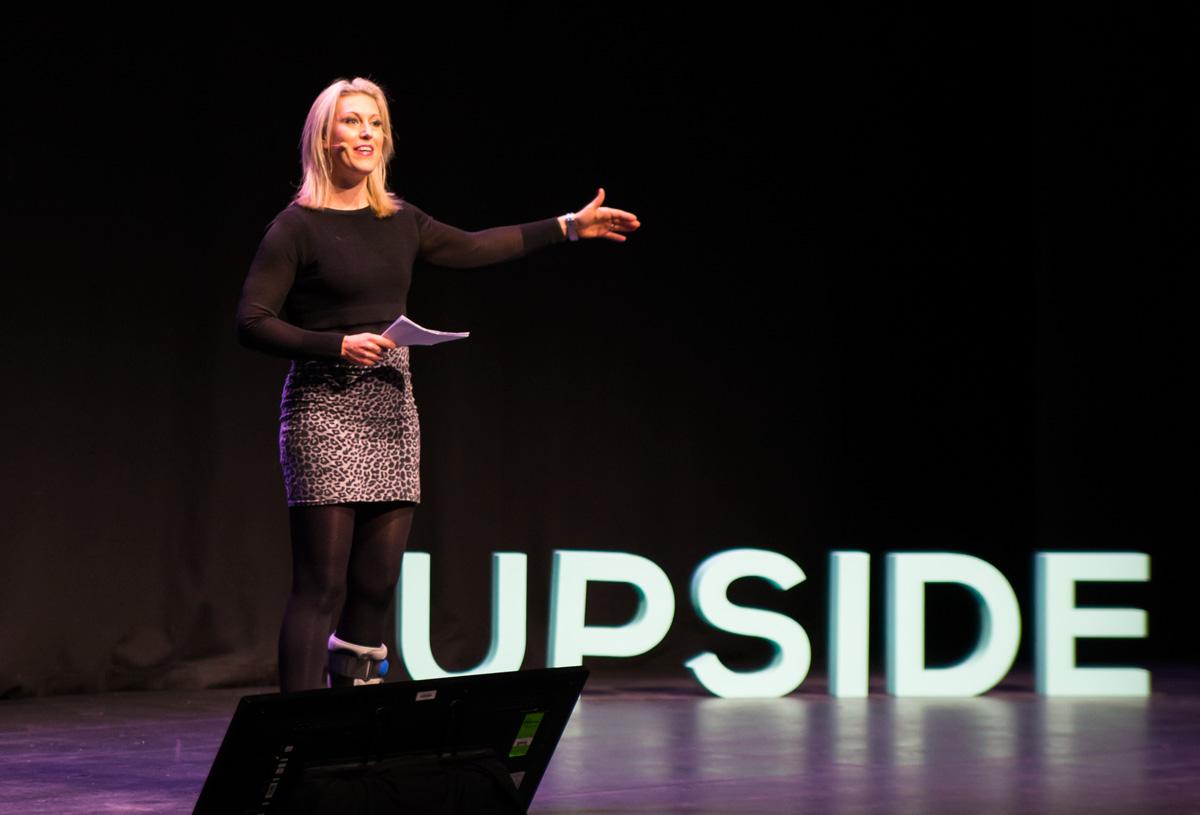 Social media expert Sam Mutimer at Upside Live Melbourne 2015