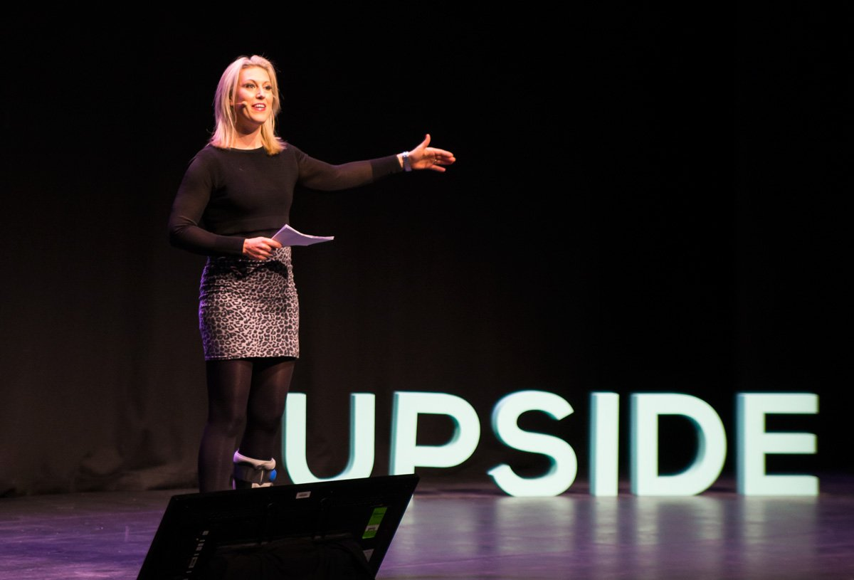 Social media expert Sam Mutimer at Upside Live Melbourne 2015