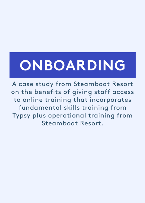 Onboarding training with Typsy